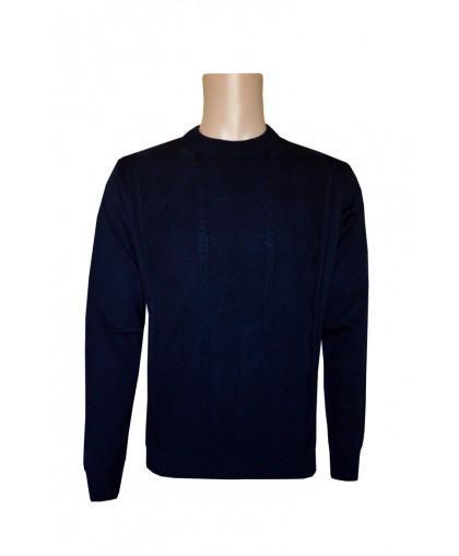 Однотонный синий джемпер
