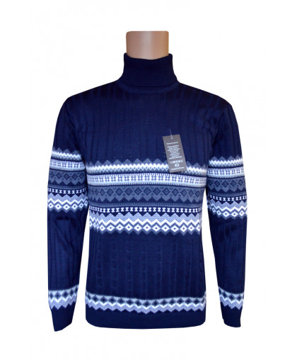 Мужской свитер с рисунком на груди