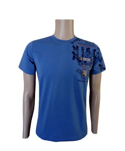 Синяя футболка с рисунком