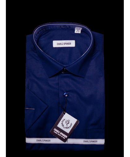 Темно-синяя рубашка Charlz Spanser