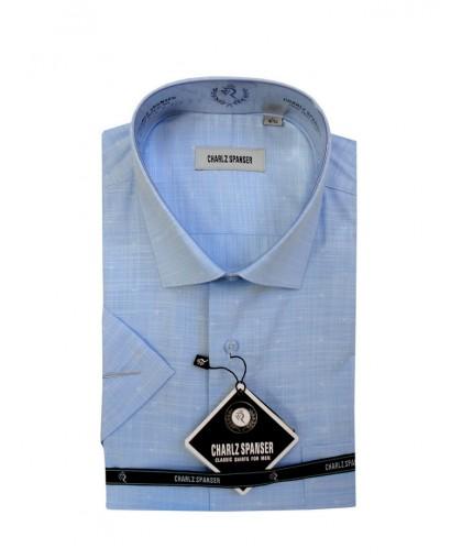 Голубая хлопковая рубашка