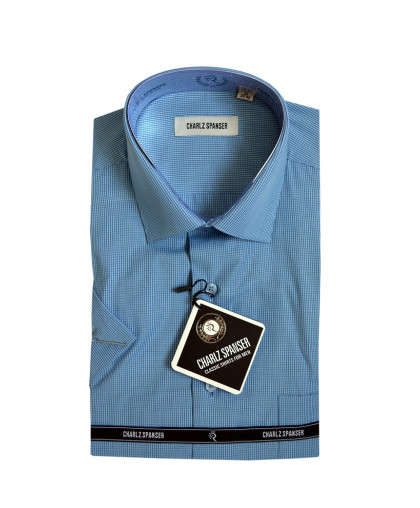 Рубашка Charlz Spanser в мелкую клеточку