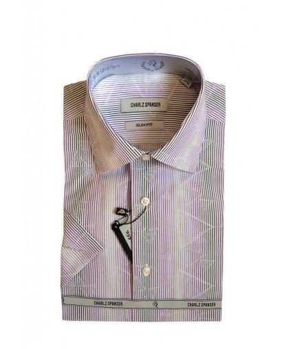 Рубашка в сиреневую полоску