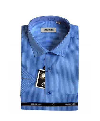 Синяя сорочка в полоску
