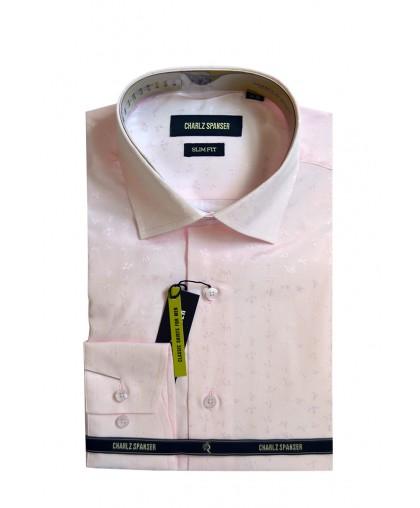 Мужская сорочка нежно-розового оттенка