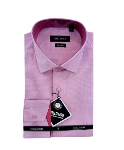 Розовая рубашка Charlz Spanser