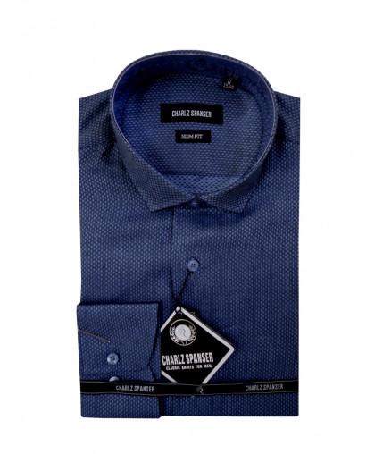 Серо-синяя мужская рубашка