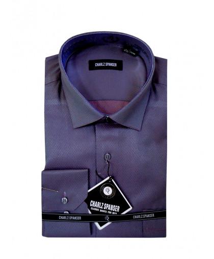 Серо-розовая рубашка Charlz Spanser