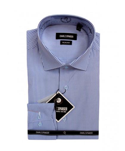 Голубая сорочка в полоску