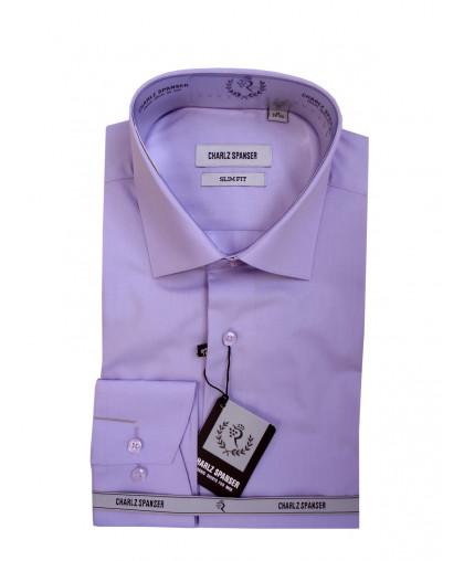 Сиреневая мужская сорочка