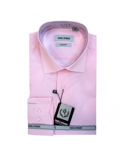Мужская сорочка Charlz Spanserсветло-розового оттенка