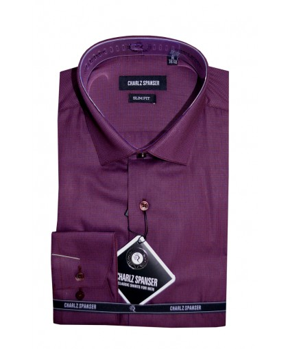 Бордовая рубашка в клеточку