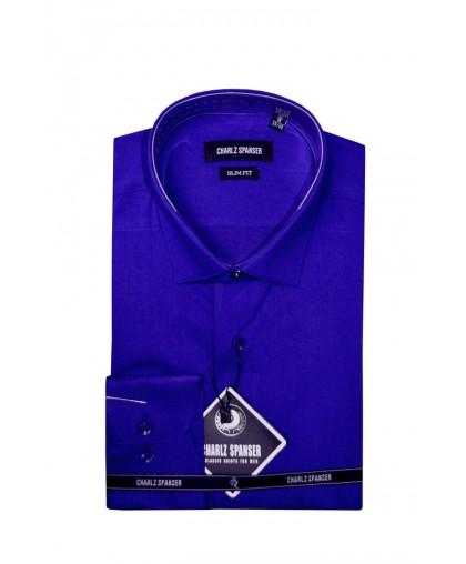 Ярко-синяя мужская сорочка