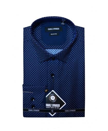 Синяя сорочка в ромбик