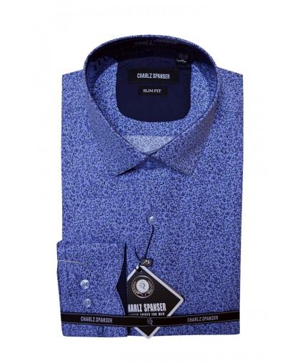 Мужская рубашка с цветочным узором