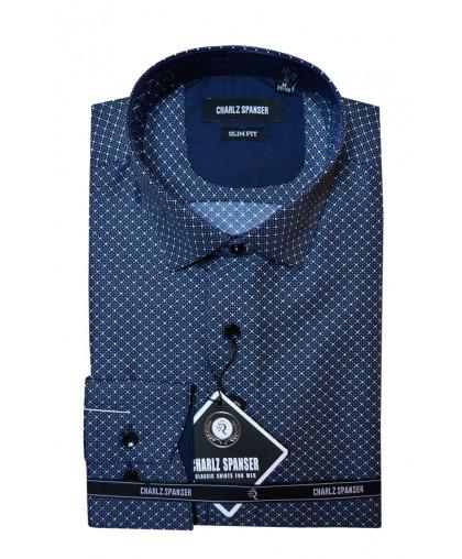 Синяя рубашка в ромбик