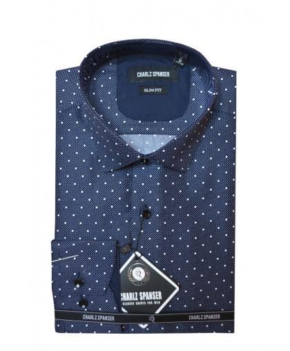 Серо - синяя сорочка в крапинку