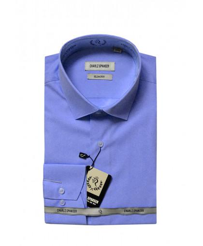Темно-голубая мужская рубашка