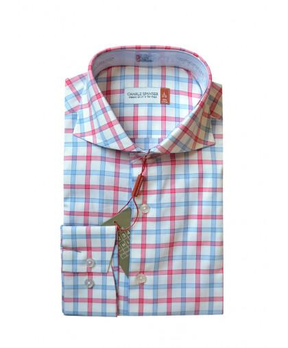 Рубашка в красно-синюю клетку