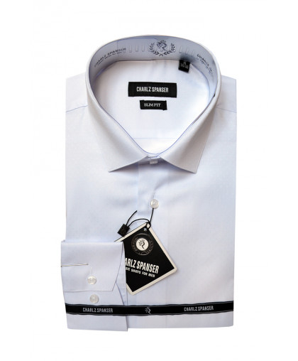 Белая жаккардовая рубашка