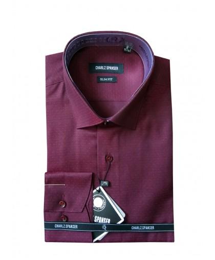 Бордовая рубашка в крапинку